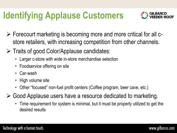 Identifying Applause Customers