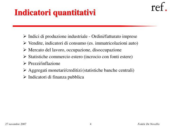 Indicatori quantitativi