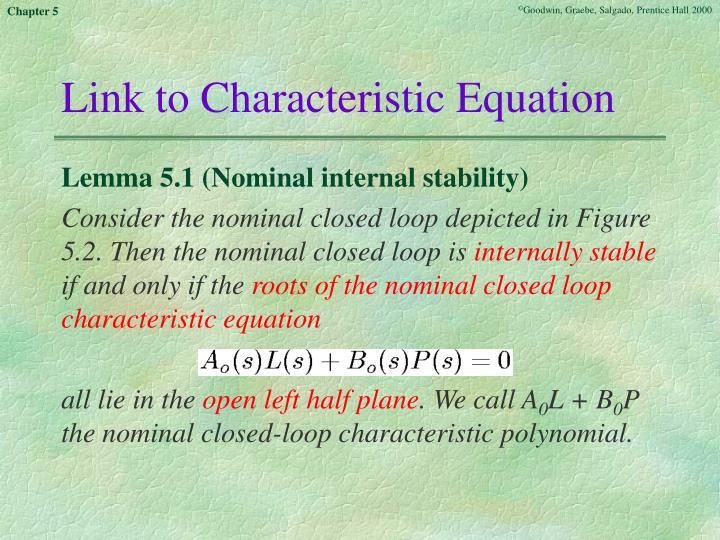 Link to Characteristic Equation