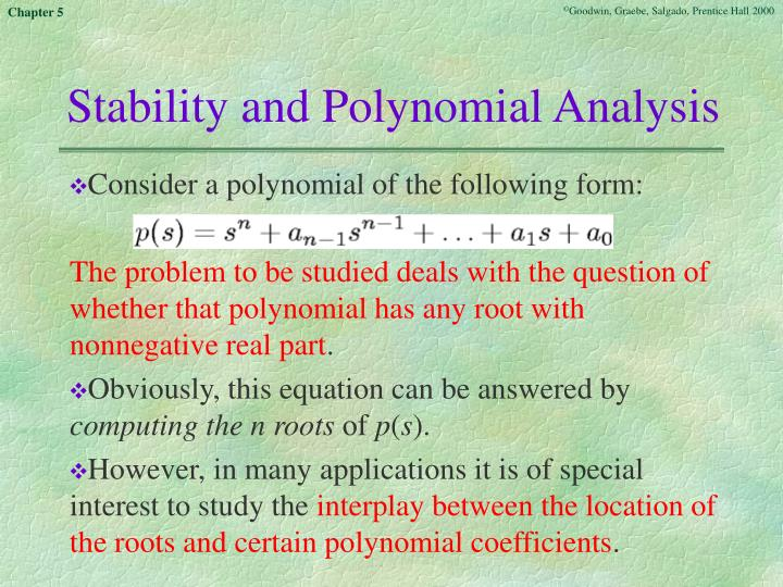 Stability and Polynomial Analysis