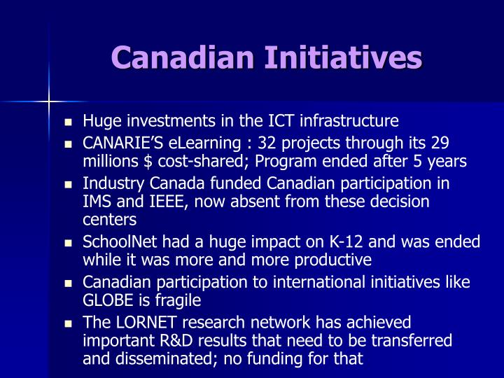 Canadian Initiatives