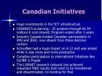 canadian initiatives