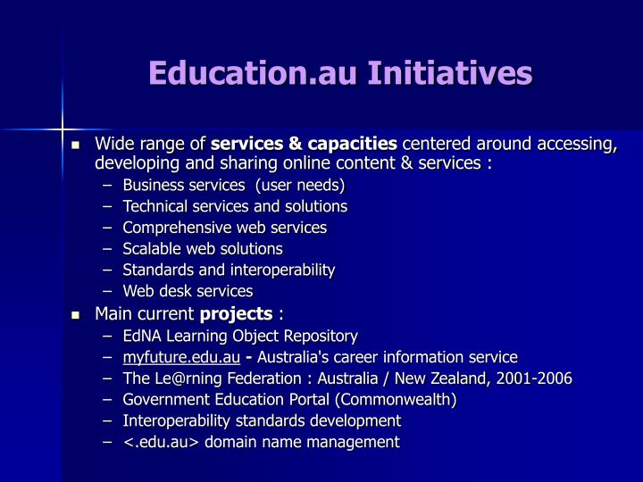 Education.au Initiatives
