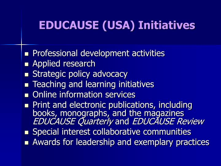 EDUCAUSE (USA) Initiatives