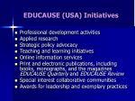 educause usa initiatives