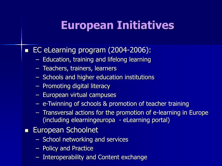 European Initiatives
