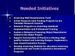 needed initiatives