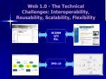 web 1 0 the technical challenges interoperability reusability scalability flexibility