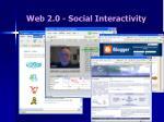 web 2 0 social interactivity