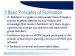 3 basic principles of facilitation