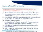 fostering mutual understanding