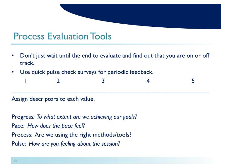 Process Evaluation Tools