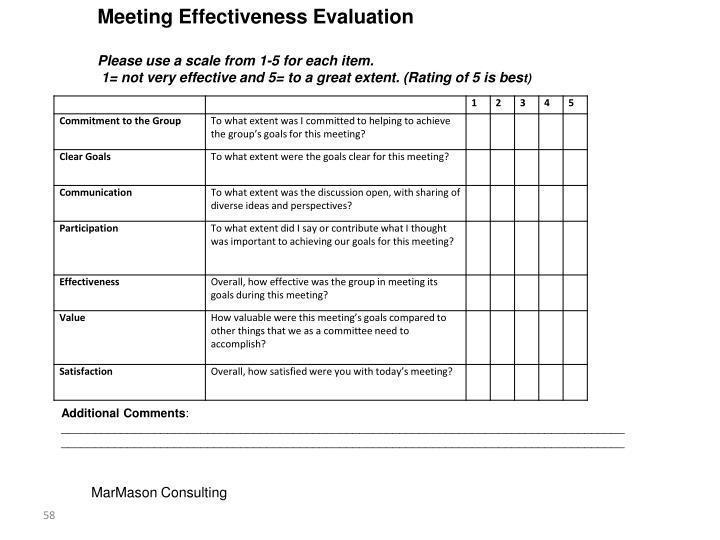 Meeting Effectiveness Evaluation