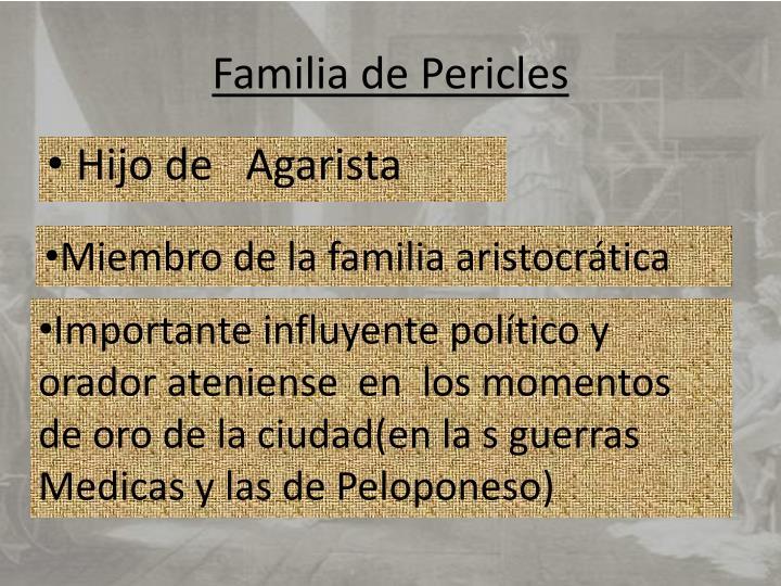 Familia de Pericles