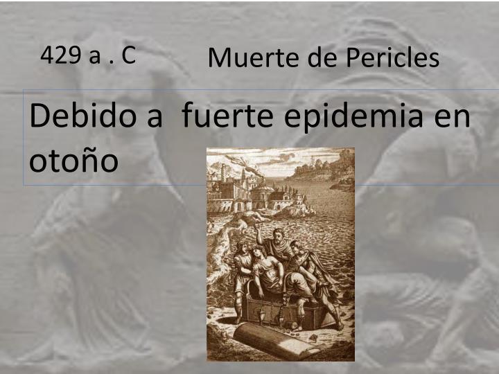 Muerte de Pericles