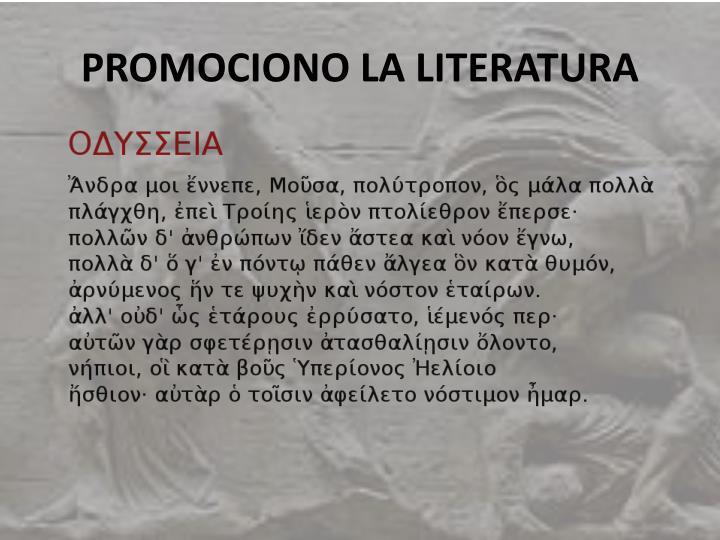 PROMOCIONO LA LITERATURA