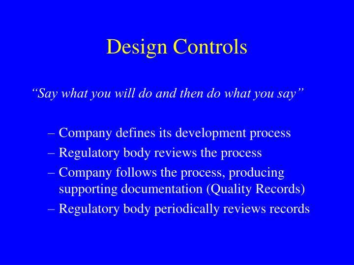 Design Controls