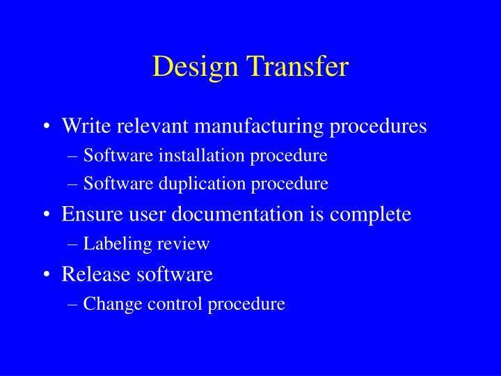 Design Transfer