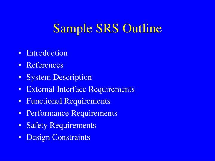 Sample SRS Outline