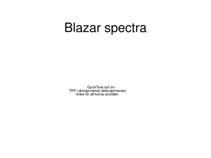 Blazar spectra