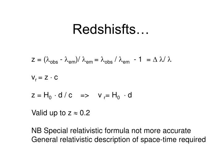 Redshisfts…