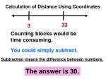 calculation of distance using coordinates1