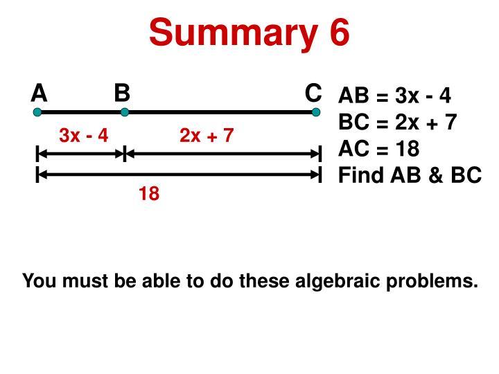 Summary 6