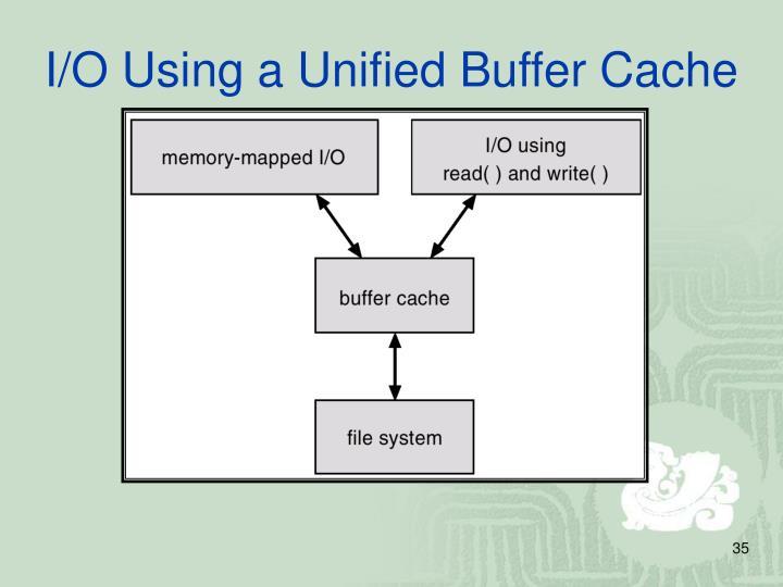 I/O Using a Unified Buffer Cache