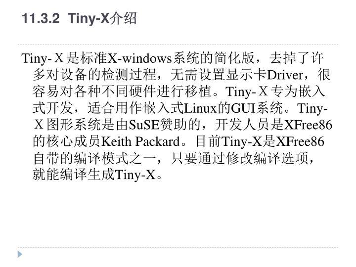 11.3.2  Tiny-X