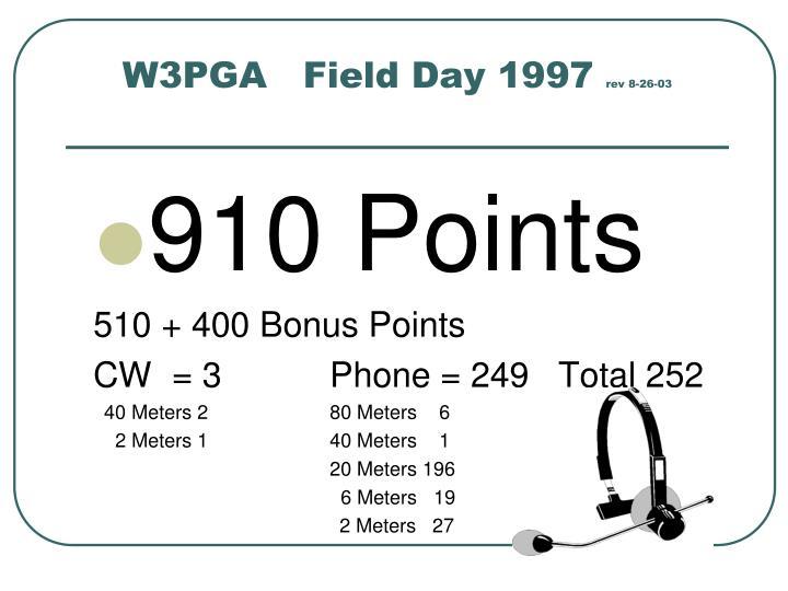 W3PGA   Field Day 1997
