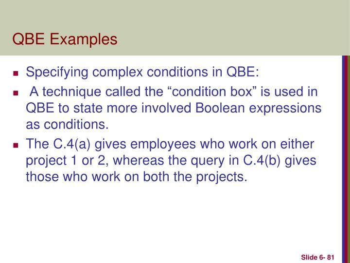 QBE Examples