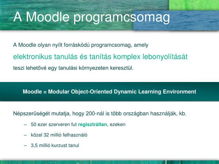 A Moodle programcsomag