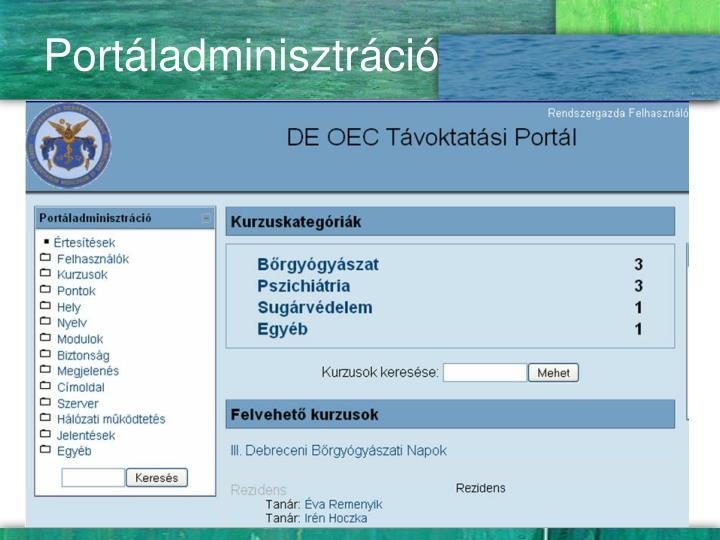 Portáladminisztráció