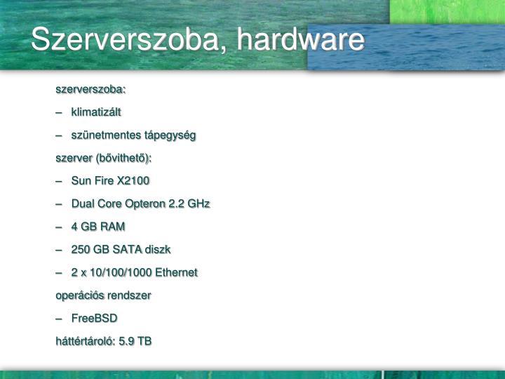 Szerverszoba, hardware
