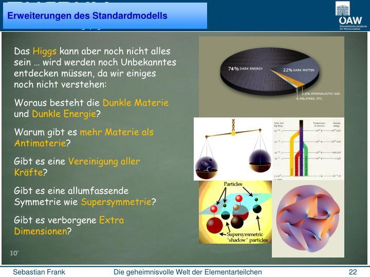 Erweiterungen des Standardmodells