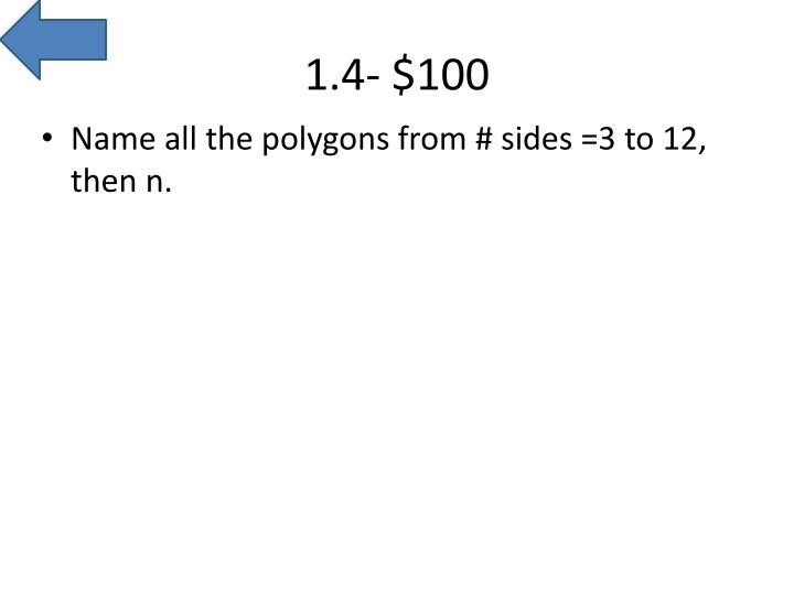 1.4- $100