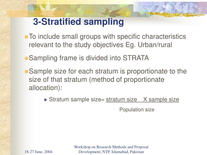 3-Stratified sampling