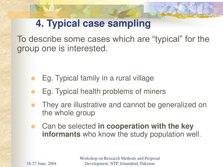 4. Typical case sampling