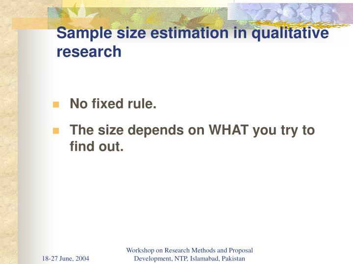 Sample size estimation in qualitative research