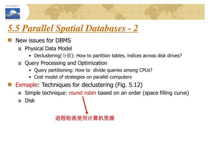 5.5 Parallel Spatial Databases - 2