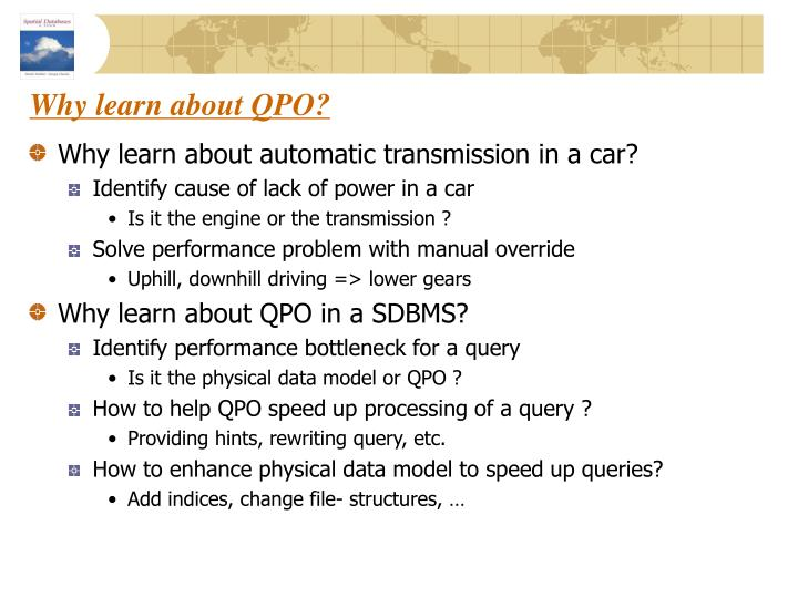 Why learn about QPO?