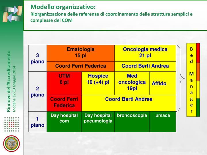 Modello organizzativo: