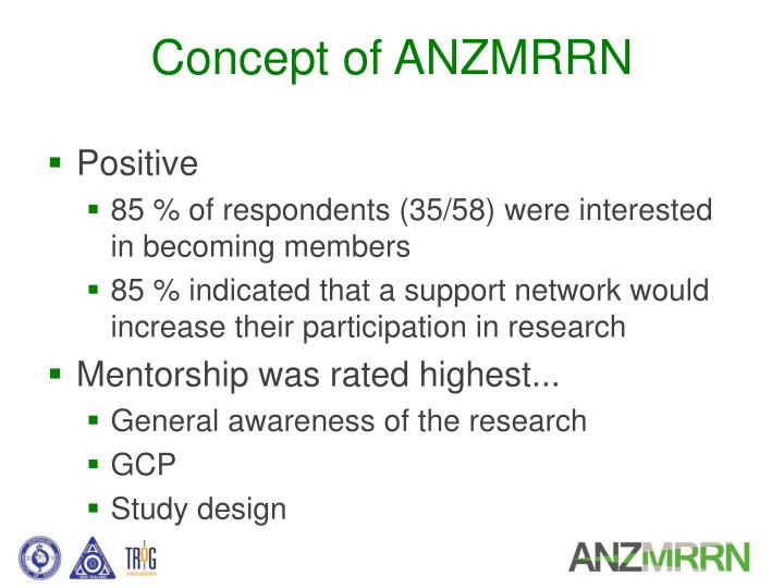 Concept of ANZMRRN