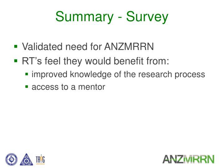 Summary - Survey