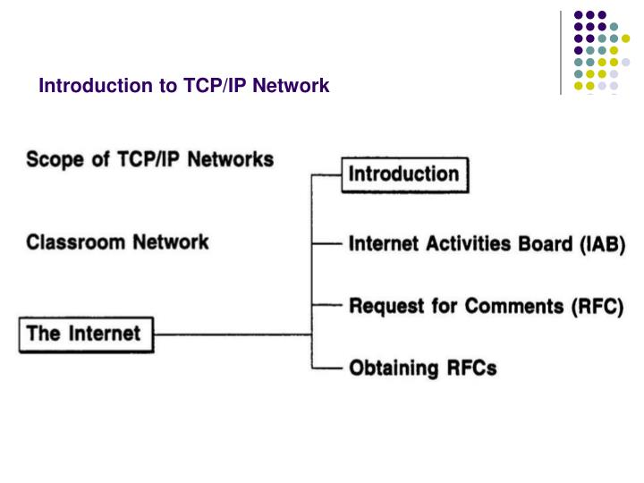 Introduction to TCP/IP Network