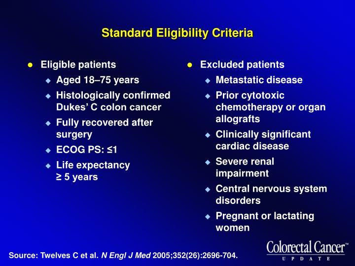 Standard Eligibility Criteria