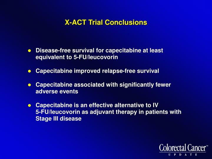 X-ACT Trial Conclusions