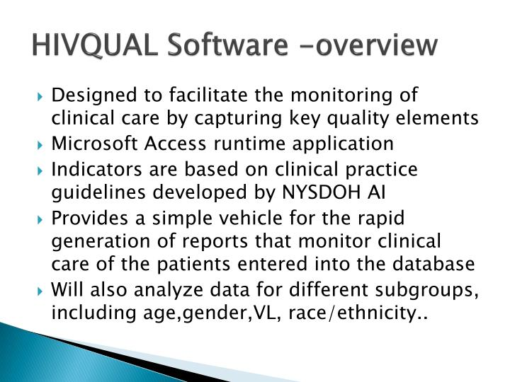 HIVQUAL Software -overview
