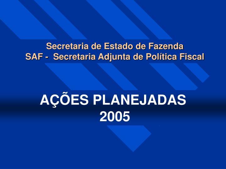 Secretaria de Estado de Fazenda