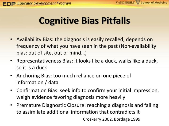 Cognitive Bias Pitfalls